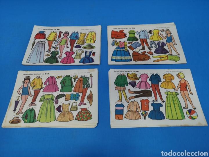 46 LÁMINAS MUÑECAS RECORTABLES EVA (Coleccionismo - Recortables - Muñecas)