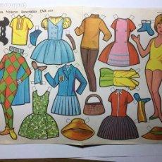 Coleccionismo Recortables: LAMINA MUÑECAS RECORTABLES EVA 969. Lote 194600586