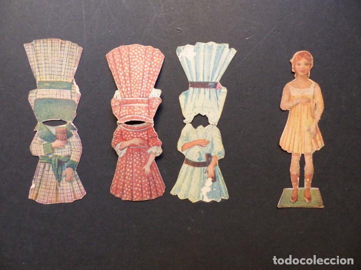 ANTIGUO RECORTABLE NIÑA - AÑOS 1930-40 - TROQUELADO - 4 PIEZAS VER FOTOS (Coleccionismo - Recortables - Muñecas)