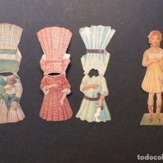 Coleccionismo Recortables: ANTIGUO RECORTABLE NIÑA - AÑOS 1930-40 - TROQUELADO - 4 PIEZAS VER FOTOS. Lote 194944176