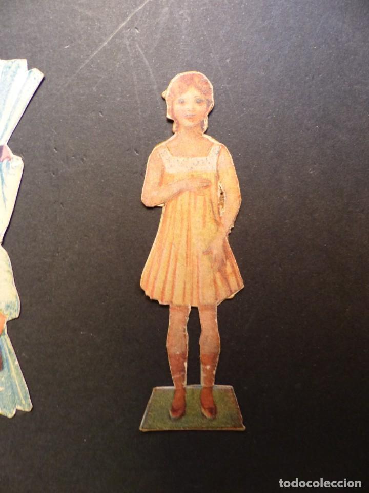 Coleccionismo Recortables: ANTIGUO RECORTABLE NIÑA - AÑOS 1930-40 - TROQUELADO - 4 PIEZAS VER FOTOS - Foto 2 - 194944176
