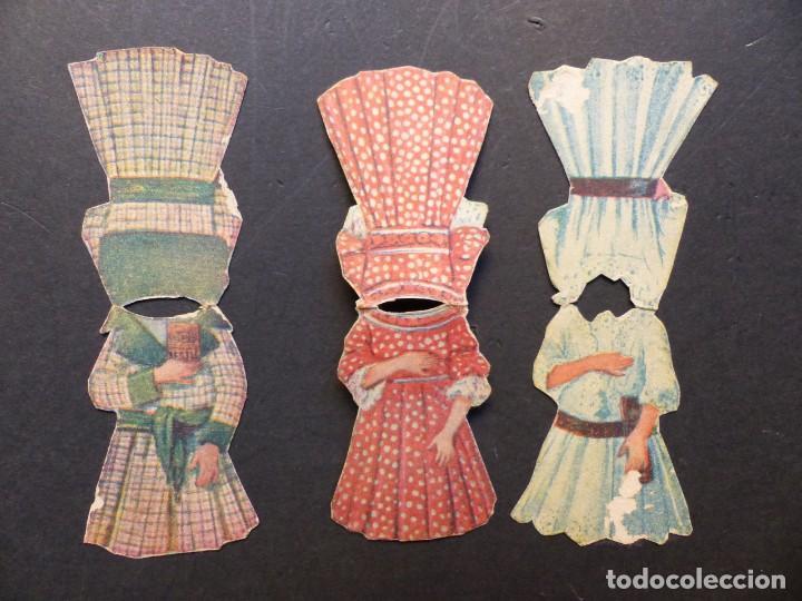 Coleccionismo Recortables: ANTIGUO RECORTABLE NIÑA - AÑOS 1930-40 - TROQUELADO - 4 PIEZAS VER FOTOS - Foto 4 - 194944176