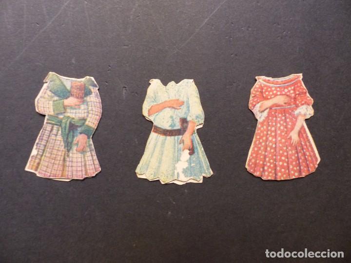 Coleccionismo Recortables: ANTIGUO RECORTABLE NIÑA - AÑOS 1930-40 - TROQUELADO - 4 PIEZAS VER FOTOS - Foto 6 - 194944176