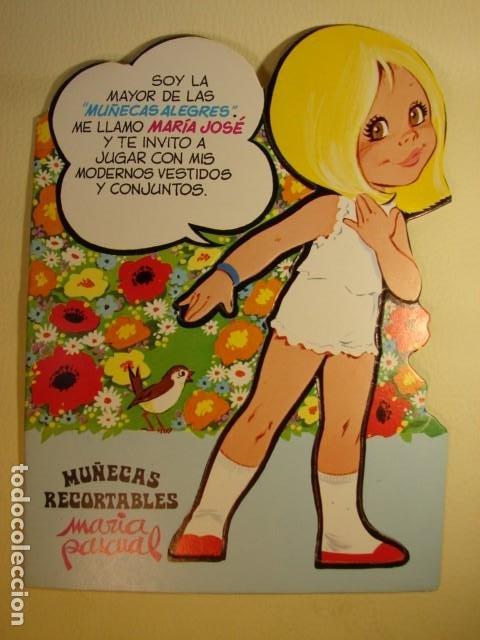 MARÍA JOSÉ Nº 5 DE LA COLECCIÓN DE MUÑECAS ALEGRES RECORTABLES DE MARÍA PASCUAL - EDICIÓN 1981 (Coleccionismo - Recortables - Muñecas)