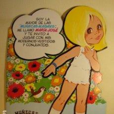 Coleccionismo Recortables: MARÍA JOSÉ Nº 5 DE LA COLECCIÓN DE MUÑECAS ALEGRES RECORTABLES DE MARÍA PASCUAL - EDICIÓN 1981. Lote 195152386