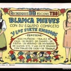 Coleccionismo Recortables: RECORTABLE DE MUÑECAS DE RECORTABLES BB DE EDICIONES TBO: BLANCA NIEVES. 4 HOJAS. Lote 195367765