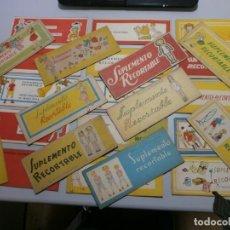 Coleccionismo Recortables: GRAN LOTE 25 SUPLEMENTO RECORTABLE MERCEDES CRESPO MUÑECA MARI PEPA ORIGINALES Y COMPLETOS AÑOS 40. Lote 195698671