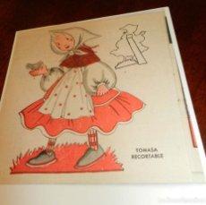 Coleccionismo Recortables: RECORTABLE DETOMASITA PROTAGONISTAS DE LA REVISTA MIS CHICAS. ES COPIA. Lote 196640926