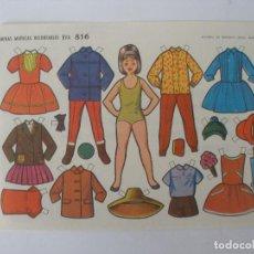 Colecionismo Recortáveis: LÁMINA MUÑECAS RECORTABLES EVA Nº 816 ISABELITA - AÑO 1964. Lote 207364371