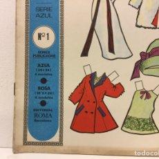 Coleccionismo Recortables: ÁLBUM DE MUÑECAS - SERIE AZUL- Nº 1 - EDITORIAL ROMA - 4 MODELOS - AÑO 1968.. Lote 293549268