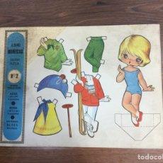 Coleccionismo Recortables: ÁLBUM DE MUÑECAS - SERIE AZUL- Nº 2 - EDITORIAL ROMA - 4 MODELOS - AÑO 1968.. Lote 208390600
