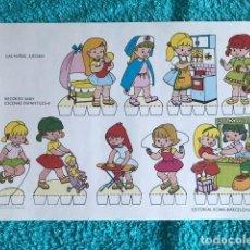 Coleccionismo Recortables: RECORTABLES BABY ESCENAS INFANTILES 8 EDITORIAL ROMA LAS NIÑAS JUEGAN. Lote 208886512
