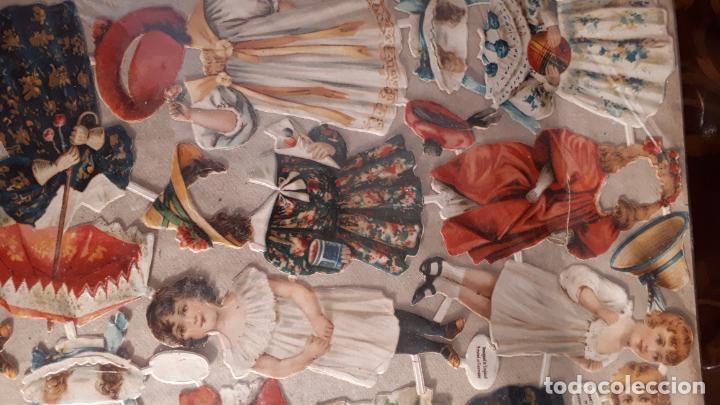 Coleccionismo Recortables: RECORTABLE DE MUÑECAS EN PAPEL CROMO.XIX. - Foto 2 - 208895268