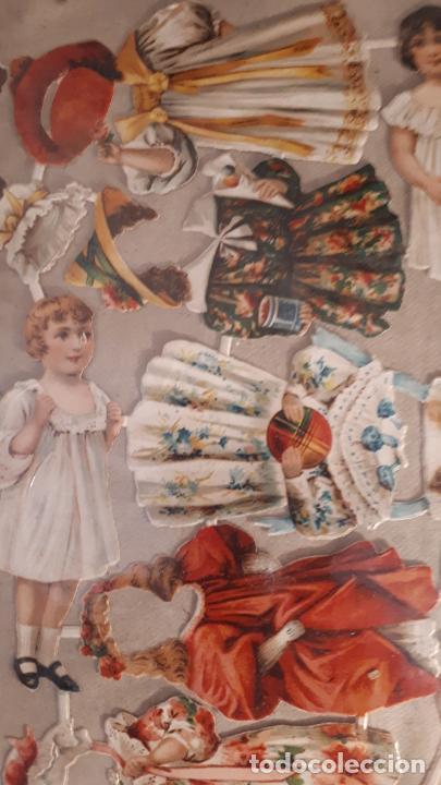 Coleccionismo Recortables: RECORTABLE DE MUÑECAS EN PAPEL CROMO.XIX. - Foto 5 - 208895268