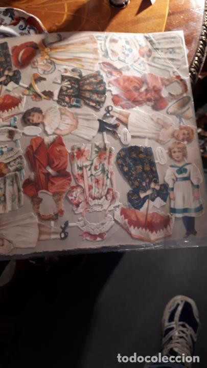 Coleccionismo Recortables: RECORTABLE DE MUÑECAS EN PAPEL CROMO.XIX. - Foto 7 - 208895268