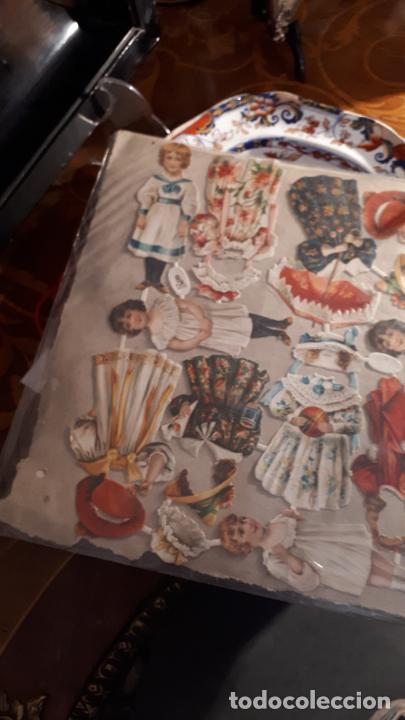 Coleccionismo Recortables: RECORTABLE DE MUÑECAS EN PAPEL CROMO.XIX. - Foto 8 - 208895268