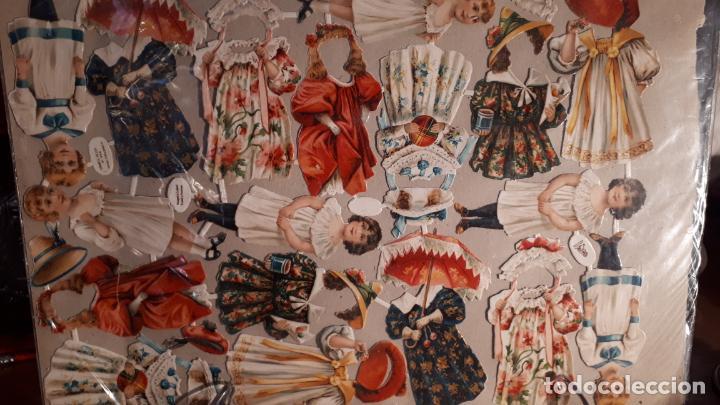 RECORTABLE DE MUÑECAS EN PAPEL CROMO.XIX. (Coleccionismo - Recortables - Muñecas)