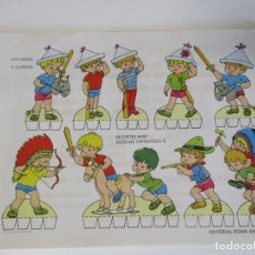 Coleccionismo Recortables: RECORTABLES BABY ESCENAS INFANTILES Nº 5 EDITORIAL ROMA JUGUEMOS A GUERRAS. Lote 208957865