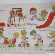 Coleccionismo Recortables: RECORTABLES BABY ESCENAS INFANTILES Nº 1 EDITORIAL ROMA JUGANDO EN EL PARQUE. Lote 208960752