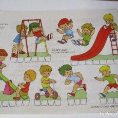 Coleccionismo Recortables: RECORTABLES BABY ESCENAS INFANTILES Nº 1 EDITORIAL ROMA JUGANDO EN EL PARQUE. Lote 208960872