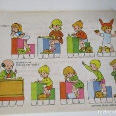 Coleccionismo Recortables: RECORTABLES BABY ESCENAS INFANTILES Nº 7 EDITORIAL ROMA EN EL COLEGIO. Lote 208961296