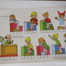 Coleccionismo Recortables: RECORTABLES BABY ESCENAS INFANTILES Nº 7 EDITORIAL ROMA EN EL COLEGIO. Lote 208961456
