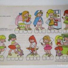 Coleccionismo Recortables: RECORTABLES BABY ESCENAS INFANTILES Nº 8 EDITORIAL ROMA LAS NIÑAS JUEGAN. Lote 208961793