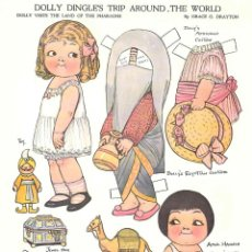 Coleccionismo Recortables: RECORTABLE. DOLLY DINGLE'S TRIP AROUND THE WORLD. THE LAND OF THE PHARAOHS. GRACE G. DRAYTON.. Lote 210595028