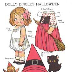 Coleccionismo Recortables: RECORTABLE. DOLLY DINGLE'S HALLOWE'EN. GRACE G. DRAYTON.. Lote 210595325