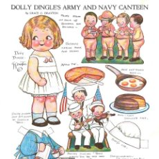 Coleccionismo Recortables: RECORTABLE. DOLLY DINGLE'S ARMY AND NAVY CANTEEN. GRACE G. DRAYTON.. Lote 210595501