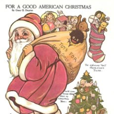 Coleccionismo Recortables: RECORTABLE. DOLLY DINGLE. FOR A GOOD AMERICAN CHRISTMAS. GRACE G. DRAYTON.. Lote 210596163