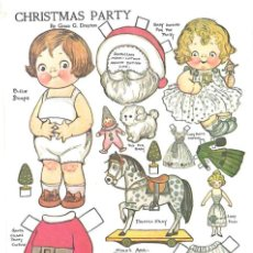 Coleccionismo Recortables: RECORTABLE. DOLLY DINGLE. CHRISTMAS PARTY. GRACE G. DRAYTON.. Lote 210596227
