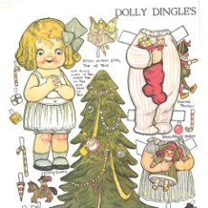 Coleccionismo Recortables: RECORTABLE. DOLLY DINGLE'S. CHRISTMAS. NAVIDAD. GRACE G. DRAYTON.. Lote 210596457