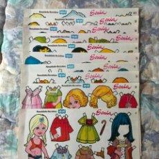 Coleccionismo Recortables: 10 LÁMINAS RECORTABLES MUÑECAS SONIA MANUALIDADES RECREATIVAS (ORBE,1978) JULI STRUTH OFRT. Lote 210639059