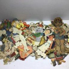 Coleccionismo Recortables: GRAN LOTE DE RECORTABLES DE MUÑECAS - VARIAS EPOCAS. Lote 212678762