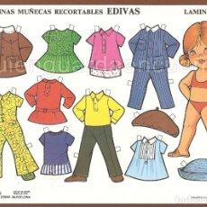 Coleccionismo Recortables: MUÑECAS RECORTABLES EDIVAS 1985 10 LÁMINAS-101-102.103-104-105-106-107-108-109-110. Lote 213678467
