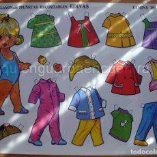 Coleccionismo Recortables: MUÑECAS RECORTABLES EDIVAS 1985 6 LÁMINAS GRANDES-201-202-203-204-205-207. Lote 213678745