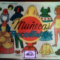Coleccionismo Recortables: MUÑECAS-LÁMINA CARÁTULA PRESENTACIÓN RECORTABLES EVA EDITORIAL VASCO AMERICANA Lª SERIE 1963 NUEVO. Lote 213728425