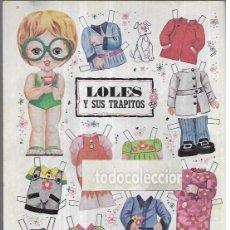 Coleccionismo Recortables: RECORTABLE MUÑECA * LOLES Y SUS TRAPITOS. Lote 214828003