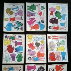 Coleccionismo Recortables: 9 LÁMINAS RECORTABLES ESTRELLA - MUÑECAS. Lote 217883841