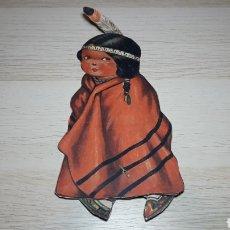 Coleccionismo Recortables: RECORTABLE NIÑA INDIA CON MOVIMIENTO EN LOS PIES, PROMOCIÓN CHOCOLATES O SIMILAR, ORIGINAL AÑOS 40.. Lote 218331490