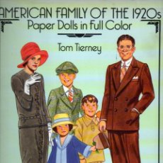 Coleccionismo Recortables: TOM TIERNEY : AMERICAN FAMILY OF THE 1920'S - PAPER DOLLS IN FULL COLOR (1988). Lote 218394448
