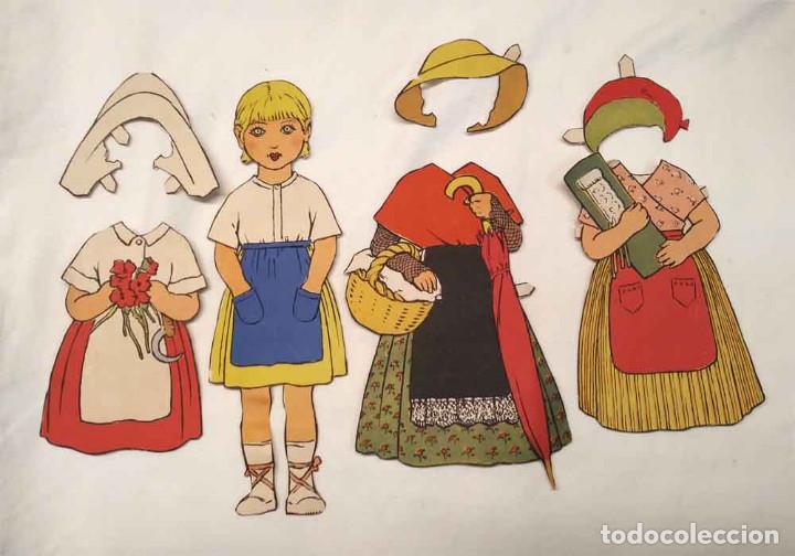 MIMI VESTIDOS Y ACCESORIOS RECORTABLE CONSTRUCCIONES EL NIÑO, BUEN ESTADO. MED. 23 CM (Coleccionismo - Recortables - Muñecas)
