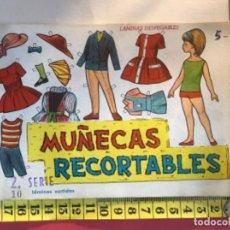 Coleccionismo Recortables: ST R 54 MUÑECAS RECORTABLES EVA SERIE 2. COMPLETO. 11 LÁMINAS. PORTADA Y 10 RECORTABLES 811 AL 820.. Lote 220272848