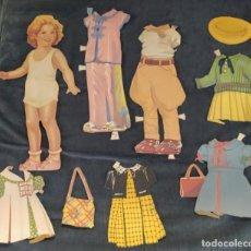 Coleccionismo Recortables: RECORTABLE SHIRLEY TEMPLE. MUÑECA Y VESTIDOS. AÑOS 40-50. Lote 221411190