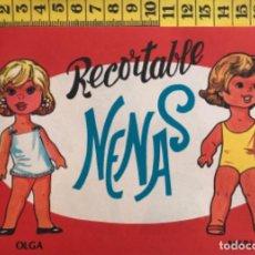 Coleccionismo Recortables: LIBRITO RECORTABLE NENAS MUÑECA OLGA ASUN Nº 2 ED. EVA BILBAO 1977 VESTIDOS MODA NIÑA. Lote 221498236