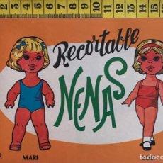 Coleccionismo Recortables: LIBRITO RECORTABLE NENAS MUÑECA LOLI MARI Nº 3 ED. EVA BILBAO 1977 VESTIDOS MODA NIÑA. Lote 221498705