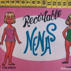 Coleccionismo Recortables: LIBRITO RECORTABLE NENAS MUÑECA YOLANDA MARILUZ Nº 4 ED. EVA BILBAO 1977 VESTIDOS MODA NIÑA. Lote 221498908
