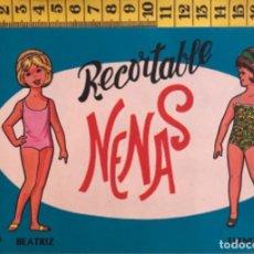 Coleccionismo Recortables: LIBRITO RECORTABLE NENAS MUÑECA BEATRIZ ELENITA Nº 5 ED. EVA BILBAO 1977 VESTIDOS MODA NIÑA. Lote 221499532