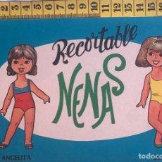 Coleccionismo Recortables: LIBRITO RECORTABLE NENAS MUÑECA ANGELITA GLORIA Nº 6 ED. EVA BILBAO 1977 VESTIDOS MODA NIÑA. Lote 221500596